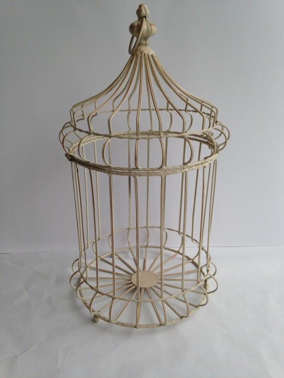Cream Wrought Iron Bird Cage
