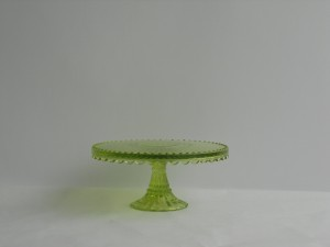Lime Green Glass Cake Stand